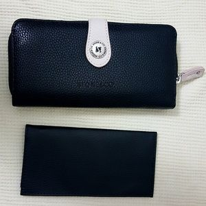 Stone & Co. Bags - Stone & Co Snap Tab Zip Checkbook  Wallet